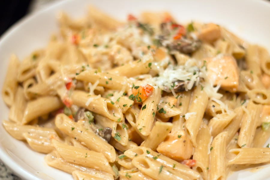 Cajun Salmon and Shrimp Pasta